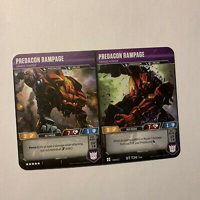 Predacon Rampage Ut T34 Transformers Tcg Wave 2 Card Rise Of The Combiners