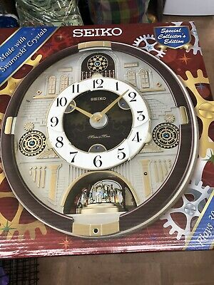 Seiko Special Collector's Edition Melodies Wall Clock Swarovski QXM377BR