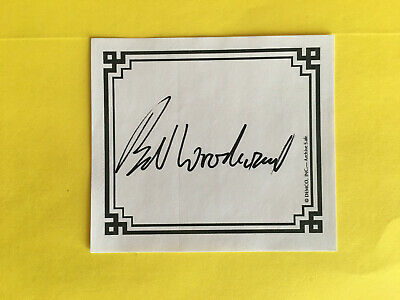 Bob Woodward Signed Autographed Bookplate( FEAR:Trump In the White House)  RARE!