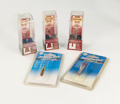 5 No. TCT Router Cutters ¼ Inch Shank
