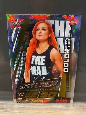 WWE Slam Attax Universe Becky Lynch Gold Limited Edition Card Topps