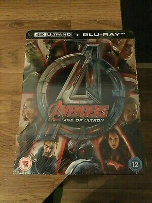 Avengers Age Of Ultron Limited Edition 4K Ultra Hd Blu Ray Steelbook(New)