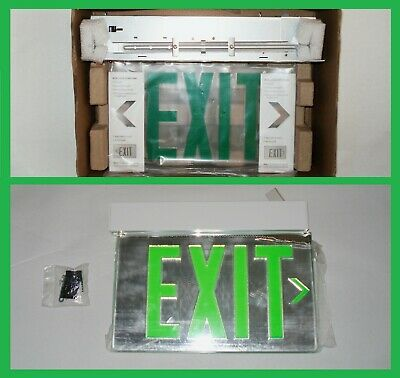 Lithonia Emergency Lighting GREEN Safety Evacuation Traffic Control Exit Sign