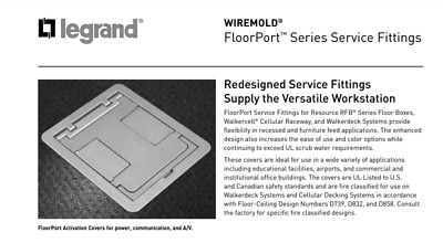Wiremold Legrand FPBTCNK Nickel Blank-Top Flange Floorport Electrical Cover