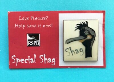 RSPB Special Shag Pin Badge