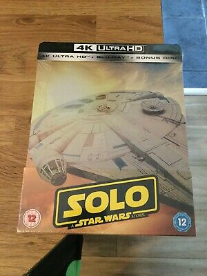 Solo A Star Wars Story Limited Edition 4K Ultra Hd Blu Ray Steelbook (New/Sealed