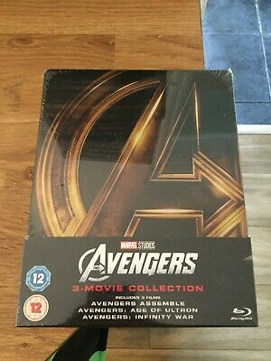 The Avengers Trilogy Limited Edition Blu Ray Steelbook Region B (New/Sealed)