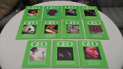 GEO Magazine Vintage 1981 11 Issues missing march FREE SH