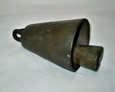 Antique Primitive Big Rare Farm Cow Goat Sheep Bell from Greece