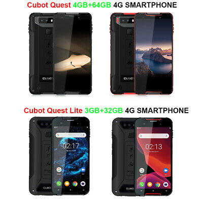 """Cubot Quest (Lite) 5.5"""" HD+ 4G Rugged Phone Octa Core 4GB+64GB Android 9.0 IP68"""