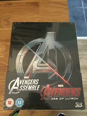 Avengers Assemble/Avengers Age Of Ultron Limited Edition 3D Blu Ray Steelbook