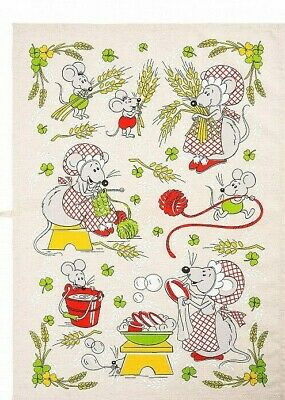 18 x 24 in Cotton Linen Blend Kitchen Towel Dishcloth MOUSE MICE Symbol of 2020