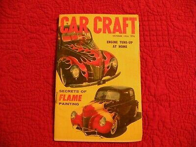 Car Craft Magazine October 1956 Secrets of Flame Painting Engine Tune at Home