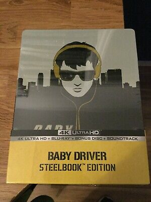 Baby Driver Limited Edition 4K Ultra Hd Blu Ray Steelbook(New/Sealed)