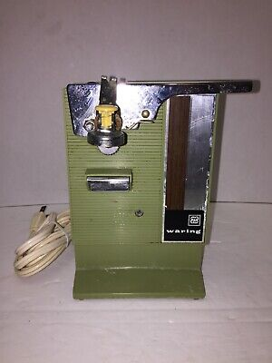 WARING AUTOMATIC- Vintage/Rare Green Electric Can Opener- Retro Works!