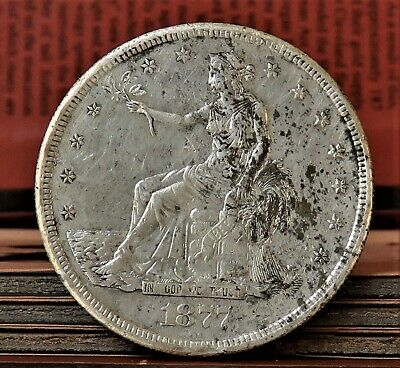 1877-S Silver Trade Dollar $1  AU High Grade * PRICE REDUCED *