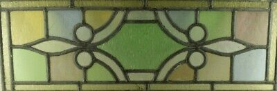 """1890's Vintage Multi-color Stained Glass Window 22 3/4"""" x 9"""""""