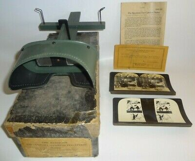 Vintage Keystone Stereographic Viewer Eye Comfort And Depth Perception In Box