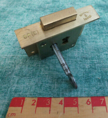 Vintage B.r (E) Brass Till,Drawer,Cabinet Lock & Key New Old Stock ~Working (A)