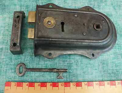 RECLAIMED VICTORIAN PALACE MOTION No 901 RIM LOCK, KEY & KEEP ~ WORKING