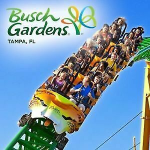 (2) Single Day Passes/Tickets Admission  Busch Gardens Tampa Expires 09/01/2019