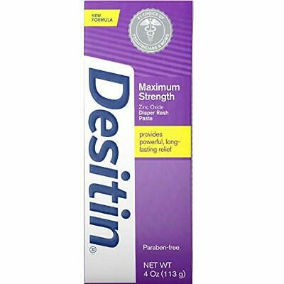 Desitin Maximum Strength Baby Diaper Rash Cream 4 oz