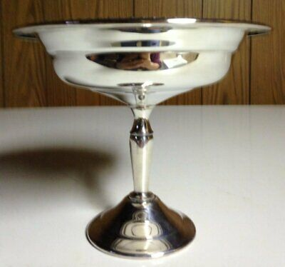 Vintage Silverplate Pedestal Candy Dish F.b. Rogers Silver Co.