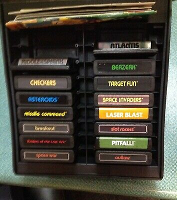 Storage Chest With 15 Games Atari Imagic Sears Activision