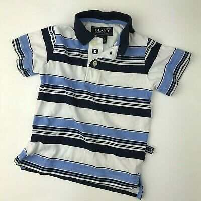 Boys Size 2T Stripe Shirt Polo Top Baby Toddler Cotton American Classic E Land