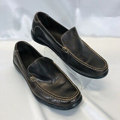 Cole Haan Air C09746 Dark Chocolate Brown Leather Slip-On Loafer Men's 11.5 M