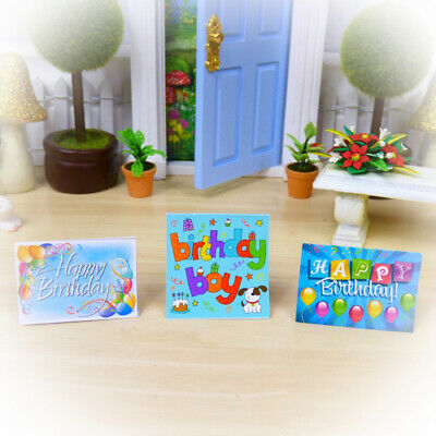 ELF BIRTHDAY CARDS Miniature 3 Pack Fairy Door Accessories HANDMADE Australia