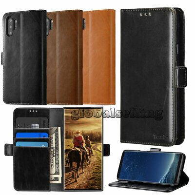 For Galaxy Note 10/9/8 S10/S9 S8 Plus Leather Wallet Stand Thin Slim Case Cover