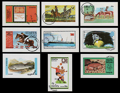 Staffa Topicals, Fish, Space, Horses, Ships, Animals, Soccer (C15B)