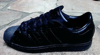 ORIGINAL ADIDAS SUPERSTAR Retro RUN DMC ALL BLACK Größe 43 1