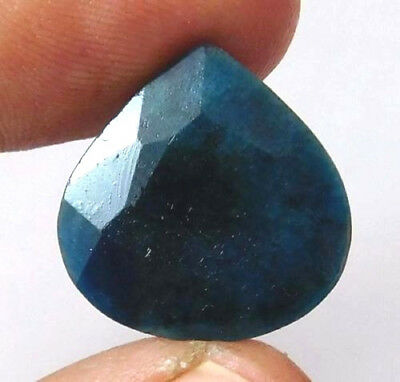 Dyed Faceted Blue Sapphire Gemstone 11 ct 16x16mm AQ541