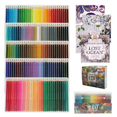 120/160PCS Watercolor Pencils Wooden Water Soluble Colored Art Drawing Pencil AU