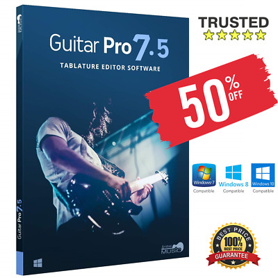Guitar Pro 7.5 2020 ✅Full Version + Soundbanks ✅Windows PC 🔑Digital Download📩