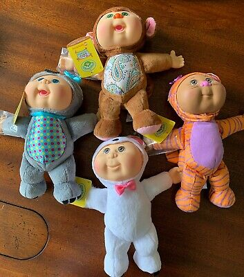 Lot Of 4 Cabbage Patch Kids Cuties Baby Dolls Zoo Friends