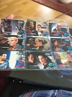 Deep Space Nine Memories from the Future Trading cards Greatest Legends L1-L9