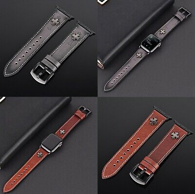 Luxury Leather Strap iWatch Band For Apple Watch Series 4/3/2/1 38/40MM 42/44MM