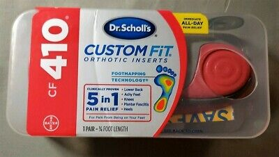 Dr Scholl's CF410 Custom Fit Orthotic Inserts Dr Scholls CF 410 - NEW
