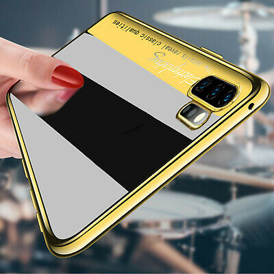 For Samsung Galaxy Note 10 Plus Case Shockproof Slim Plating Rubber Clear Cover