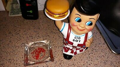 "Big Boy 8"" Coin Piggy Bank 2001 Restaurant Mascot Frisch's Bobs Shoneys"