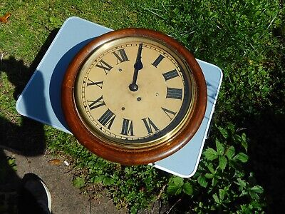 Oak cased fusee wall clock