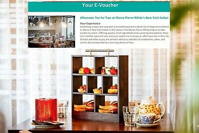 Afternoon Tea for 2 Marco Pierre White's New York Italian London Gift Two Whites