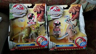 jurassic park toys r us exclusive growlers  toys mib new T-rex and raptor