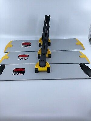 """Lot Of 3 Rubbermaid Q560 Commercial Hygen 17/"""" Quick Connect Frame//Wet//Dry Mop"""