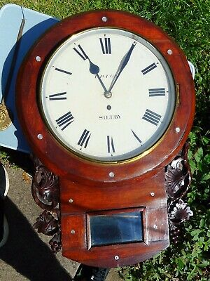 Early Victorian Fusee wall clock