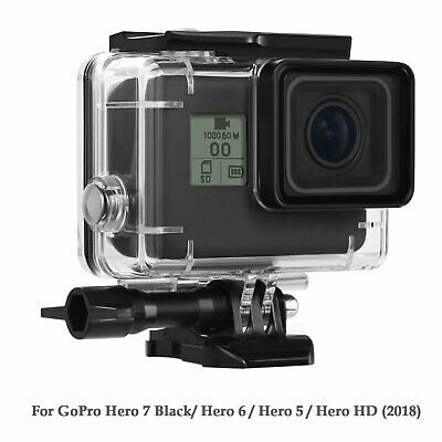Waterproof Housing Case for GoPro Hero 7 Black 5 6 Protective Shell with Bracket