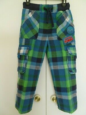 Boys Frugi Checked Trousers Age 3 - 4 years